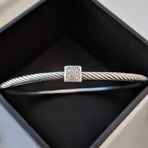 David Yurman confetti PaveDiamond Bangle Bracelet